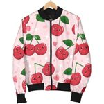 Cherry Couple Pattern 3D Printed Unisex Jacket