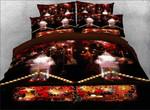 Christmas Bokeh Pattern Printed Bedding Set Bedroom Decor