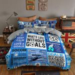 What's Life Without Goals Printed Bedding Set Bedroom Decor