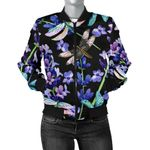Lavender Dragonfly Pattern 3D Printed Unisex Jacket
