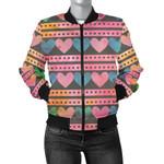 Pink Heart Pattern P3D Printed Unisex Jacket