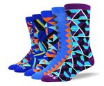 Men's Funny Blue Sock Bundle Comfortable Funny Cute Unique Socks