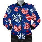 Patriot Fireworks Pattern 3D Printed Unisex Jacket