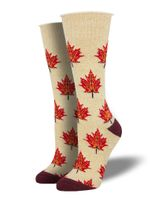 """Recycled Cotton - """"Maple Leaf, Eh?"""" Socks Comfortable Cute Funny Unique Unisex Socks"""