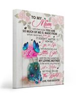 How Far I Go In Life Blue Butterflies Gift For Mom Matte Canvas