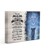 I Am Because You Are Lion Gift For Mom Matte Canvas
