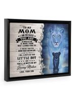 I Am Because You Are Lion Gift For Mom Framed Matte Canvas