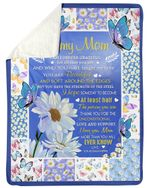 Daisy Flower The Passion You Are Gift For Mom Sherpa Fleece Blanket