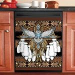 Native White Owl Dreamcatcher Dishwasher Cover Sticker Kitchen Decor