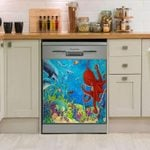 Octopus Other Fishes Dishwasher Cover Sticker Kitchen Decor