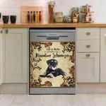 Life Is Better With Miniature Schnauzer Dishwasher Cover Sticker Kitchen Decor