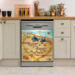 Sea Turtle Faith Hope Love Dishwasher Cover Sticker Kitchen Decor