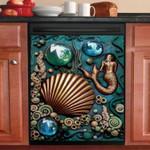 Mermaid Golden Dishwasher Cover Sticker Kitchen Decor