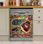Mama Afrika Multicolor Dishwasher Cover Sticker Kitchen Decor