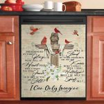 Red Cardinal Birds I Can Only Imagine Dishwasher Cover Sticker Kitchen Decor