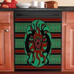 Native American Dancing Dishwasher Cover Sticker Kitchen Decor
