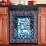 Lighthouse Wonder Pattern Dishwasher Cover Sticker Kitchen Decor