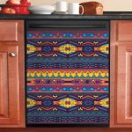 Native American Art Dishwasher Cover Sticker Kitchen Decor