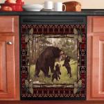 Native Vintage Mama Bear Dishwasher Cover Sticker Kitchen Decor