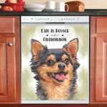 Life Is Better With A Chihuahua Dishwasher Cover Sticker Kitchen Decor