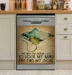 Lose Ocean Find My Soul Dishwasher Cover Sticker Kitchen Decor