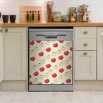 Red Apple Dishwasher Cover Sticker Kitchen Decor