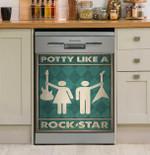 Music Potty Like A Rock Star Dishwasher Cover Sticker Kitchen Decor