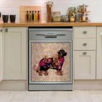 Newfie Flower Dishwasher Cover Sticker Kitchen Decor