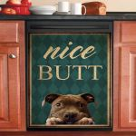 Pitbull Nice Butt Dishwasher Cover Sticker Kitchen Decor