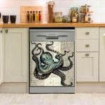 Octopus Hope Dishwasher Cover Sticker Kitchen Decor