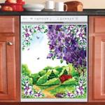 Purple Farmhouse Dishwasher Cover Sticker Kitchen Decor