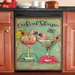 Shar Pei Cocktail Fresh Dishwasher Cover Sticker Kitchen Decor