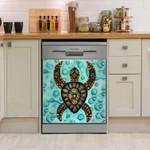 Sea Turtle Abstract Dishwasher Cover Sticker Kitchen Decor