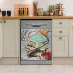 Reindeer Turn Back Dishwasher Cover Sticker Kitchen Decor