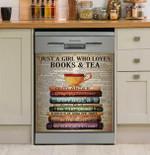 Outlander Books And Tea Dishwasher Cover Sticker Kitchen Decor