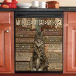 My House My Maine Coon My Rules Dishwasher Cover Sticker Kitchen Decor