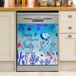 Octopus Sassy Salty Dishwasher Cover Sticker Kitchen Decor