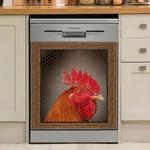 Rooster Chicken Head Dishwasher Cover Sticker Kitchen Decor