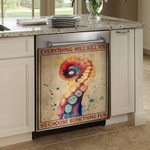 Ocean Everything Will Kill You Dishwasher Cover Sticker Kitchen Decor