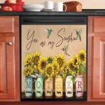 Mother You Are My Sunshine Hummingbird Dishwasher Cover Sticker Kitchen Decor