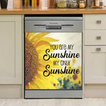 My Only Sunshine Sunflower Dishwasher Cover Sticker Kitchen Decor