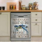 Sea Turtle Never Quit You Can Do It Dishwasher Cover Sticker Kitchen Decor