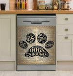 Life Is Better With Dog Dishwasher Cover Sticker Kitchen Decor