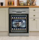 Moon Wolf Dishwasher Cover Sticker Kitchen Decor