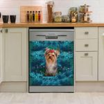 Lovely Yorkshire Blue Dishwasher Cover Sticker Kitchen Decor