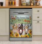 Make Today Amazing Goat And Hummingbird Dishwasher Cover Sticker Kitchen Decor