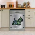Scottish Terrier Metalflower Dishwasher Cover Sticker Kitchen Decor