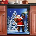Santa Claus Homecoming Dishwasher Cover Sticker Kitchen Decor