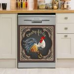 Rooster Country Kitchen Dishwasher Cover Sticker Kitchen Decor