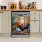 Rooster Just Breathe Dishwasher Cover Sticker Kitchen Decor